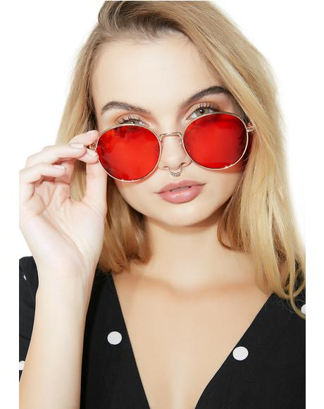 City Gal Round Glasses