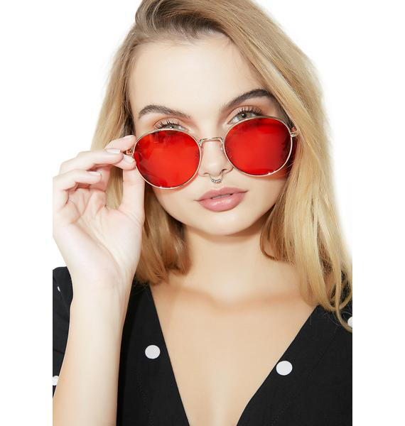 City Gal Round Glasses