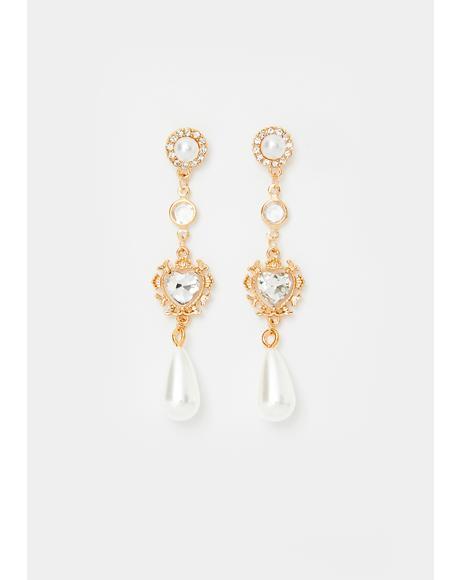 Victorian Ball Pearl Drop Earrings