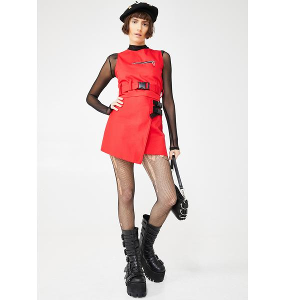 LOVE TOO TRUE Phoenix Mini Wrap Skirt