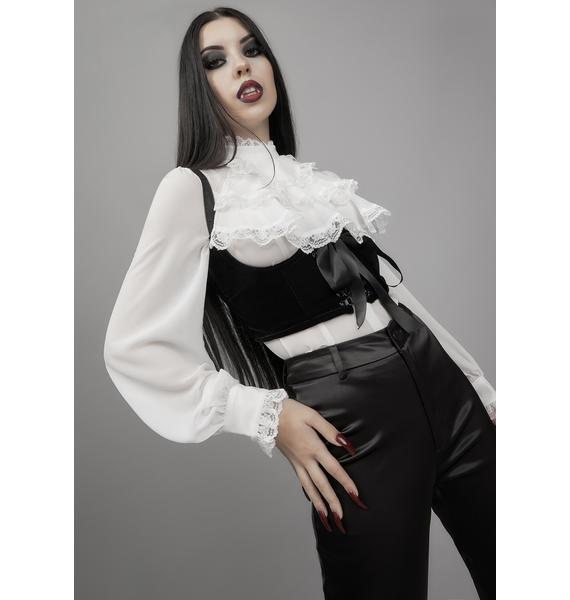 Widow I'm No Angel Chiffon Blouse