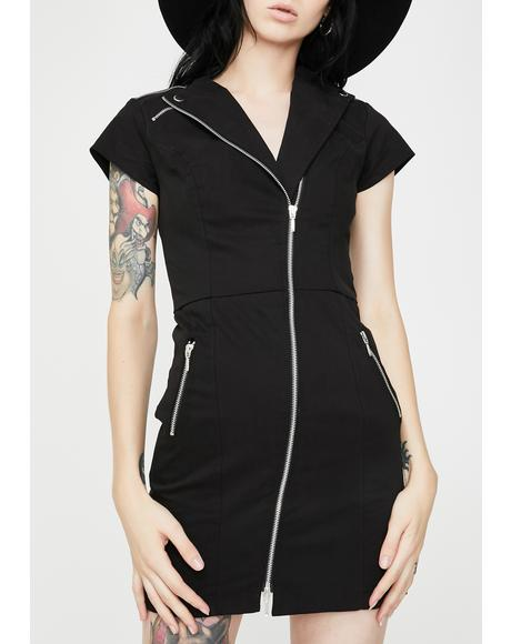 Witch On The Run Biker Dress