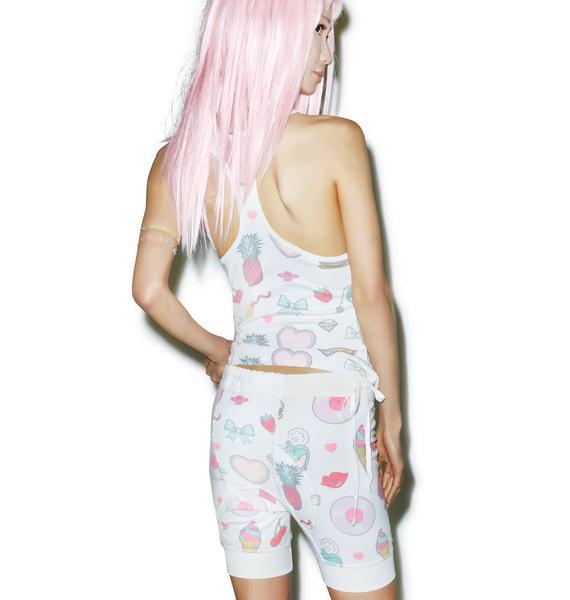 Wildfox Couture Emoji Print Darcy Shorts