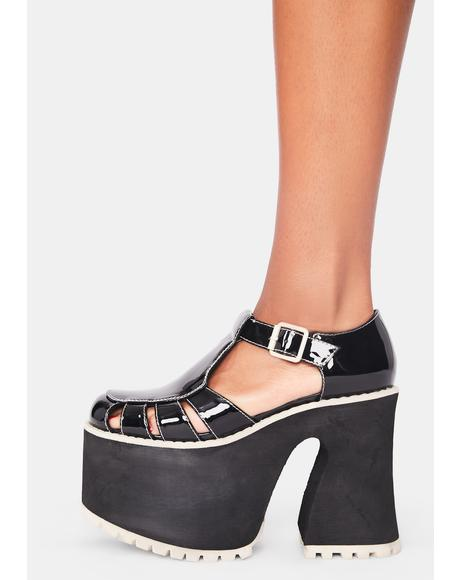 After School Hellraiser Patent Mary Janes
