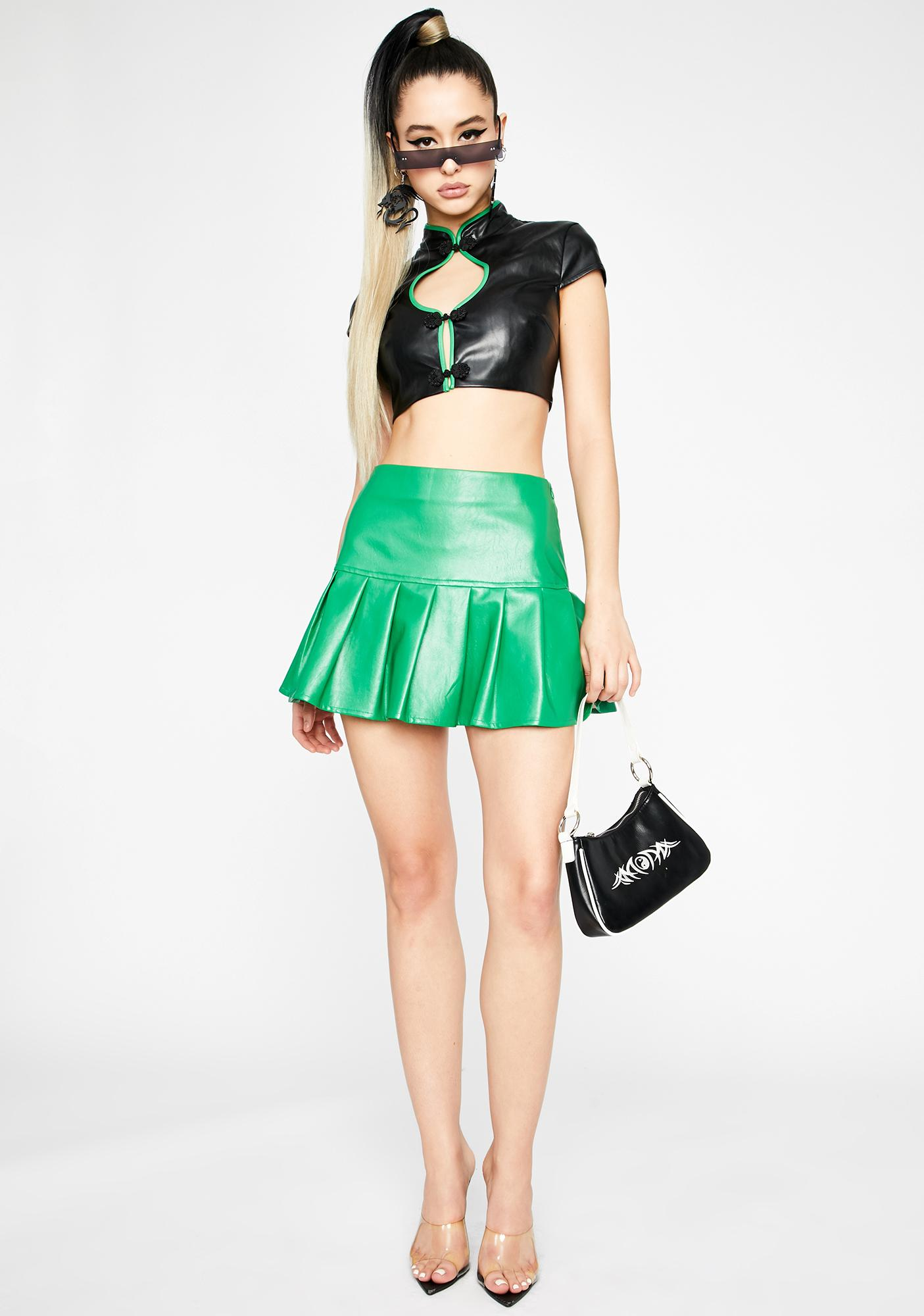 Ganja Dreamer District Pleated Skirt