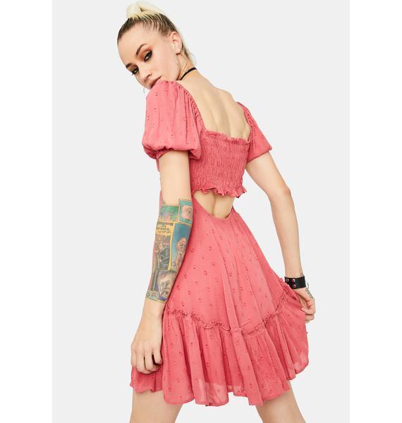 Stay Peachy Babydoll Dress
