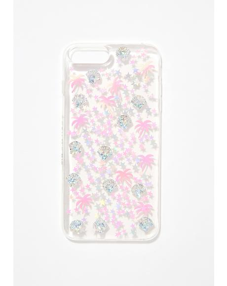 Palm Tree Sequin iPhone Case