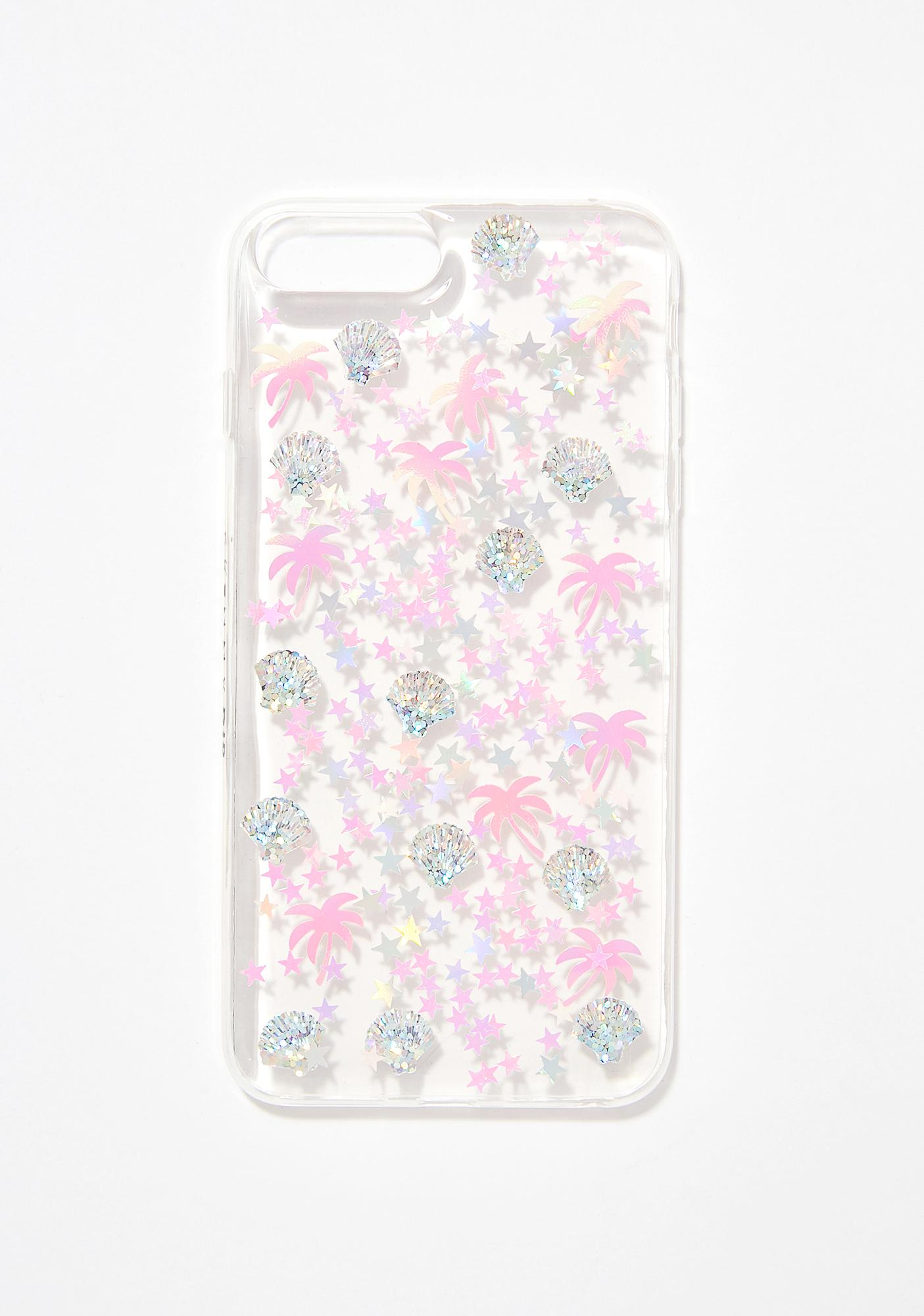 Skinnydip Palm Tree Sequin iPhone Case