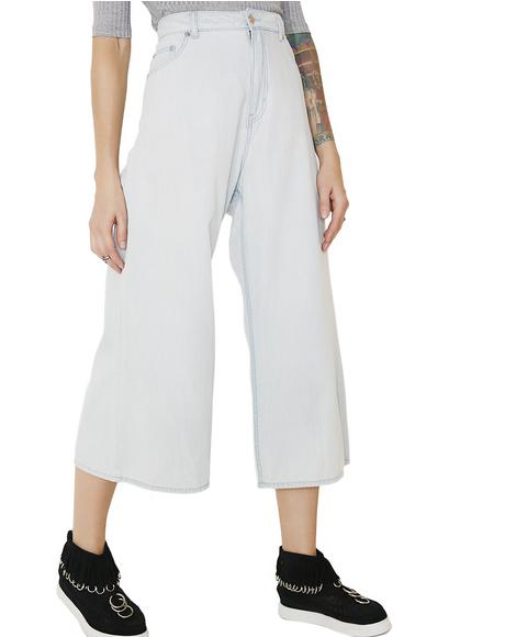 Abstract Denim Trousers