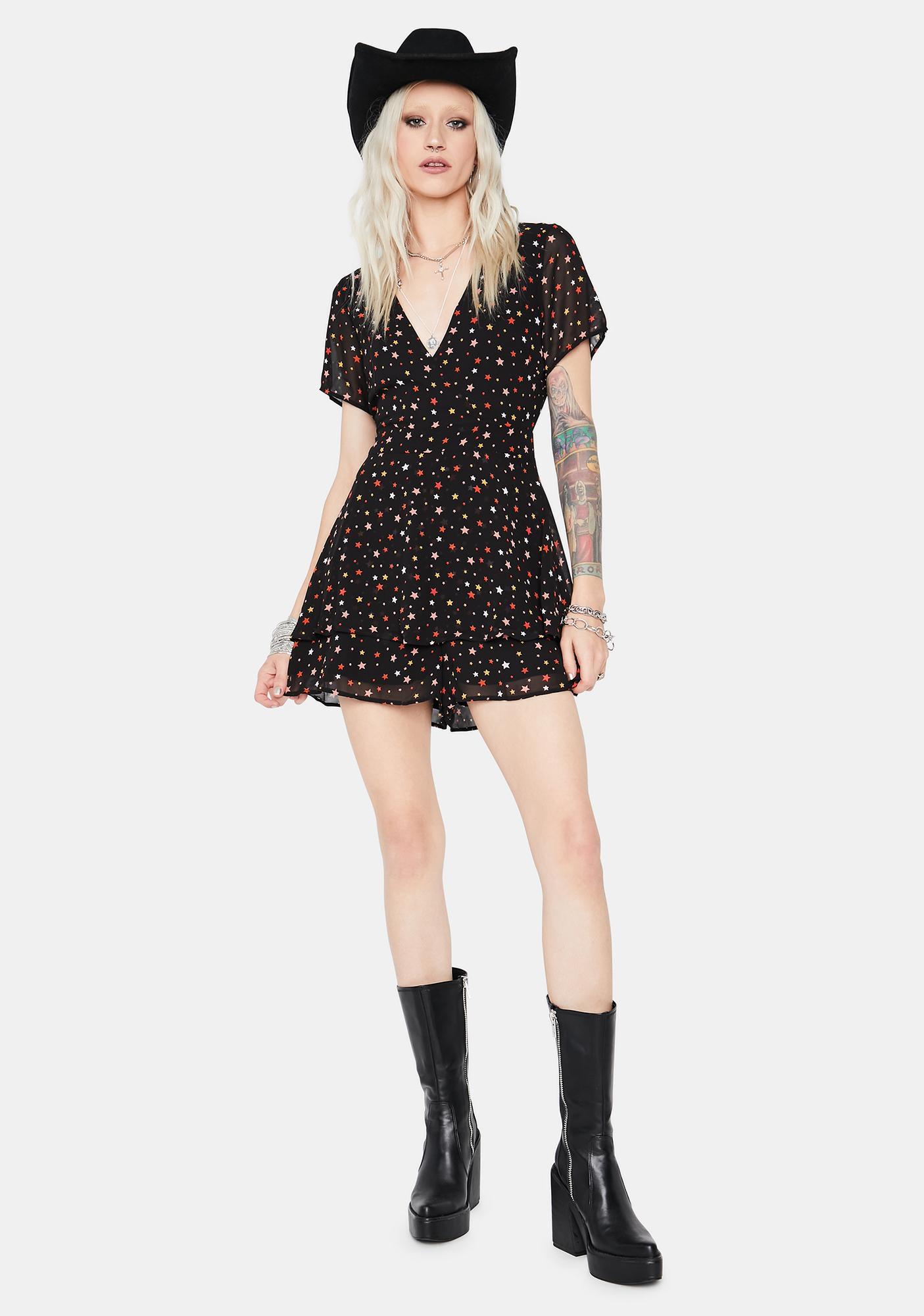 Night Rider Chiffon Mini Dress
