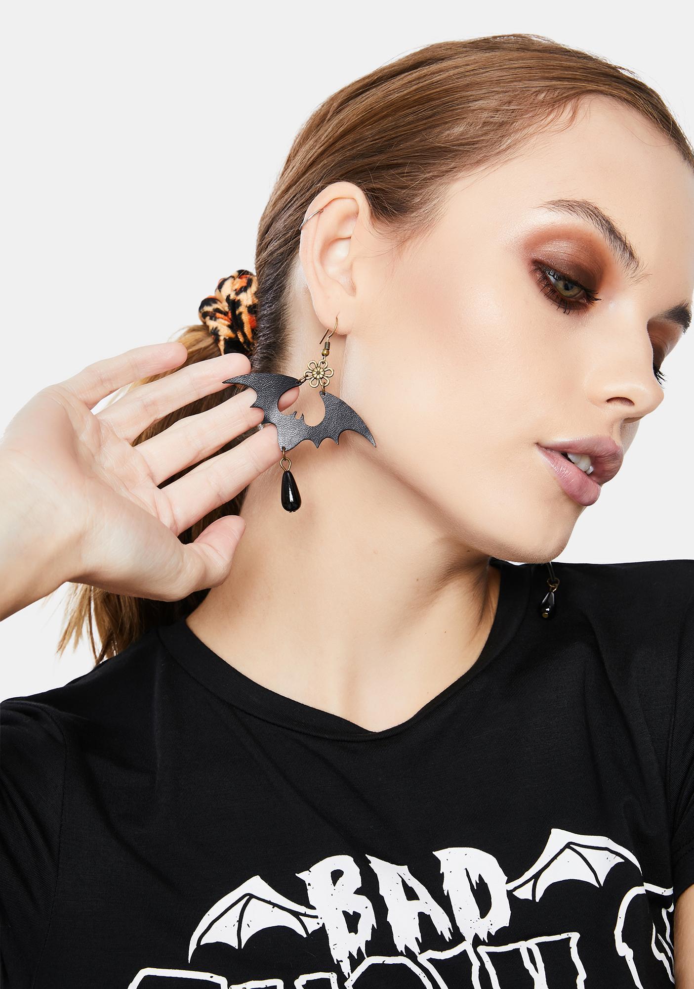 Darkest Nature Bat Earrings