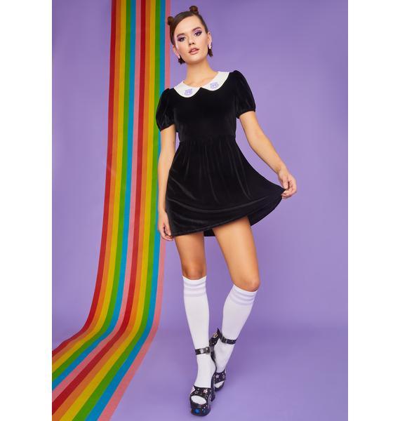 Dolls Kill x Care Bears Love You Forever Velvet Babydoll Dress