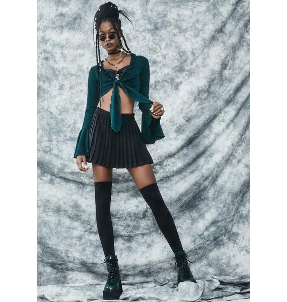 dELiA*s by Dolls Kill High She Flies Tie Front Crop Top