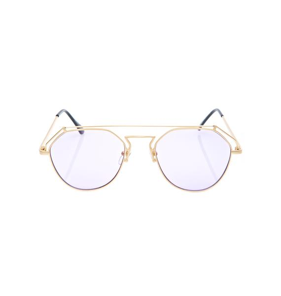 YHF Violet Stephanie Matte Sunglasses