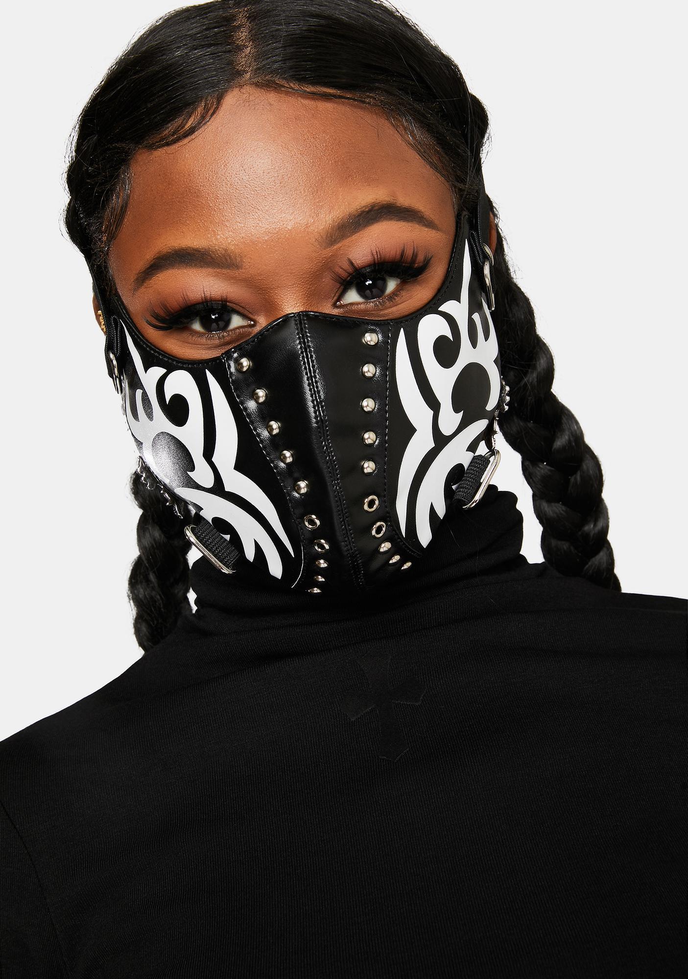Lamoda Black And White Face Mask
