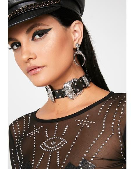 Double Down Studded Choker