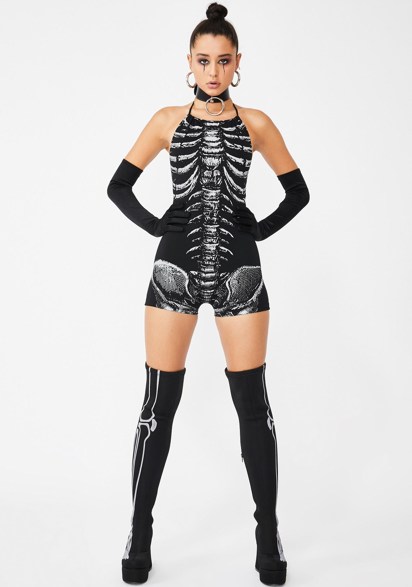 Dolls Kill Poltergeist Possession Reflective Romper