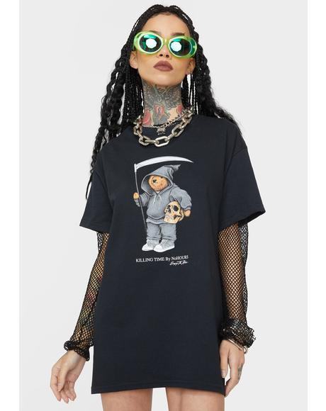 Black Solo Bear Graphic Tee