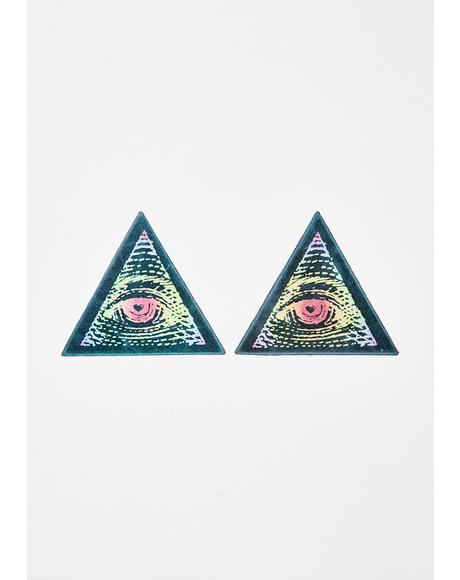 Rainbow Third Eye Pasties