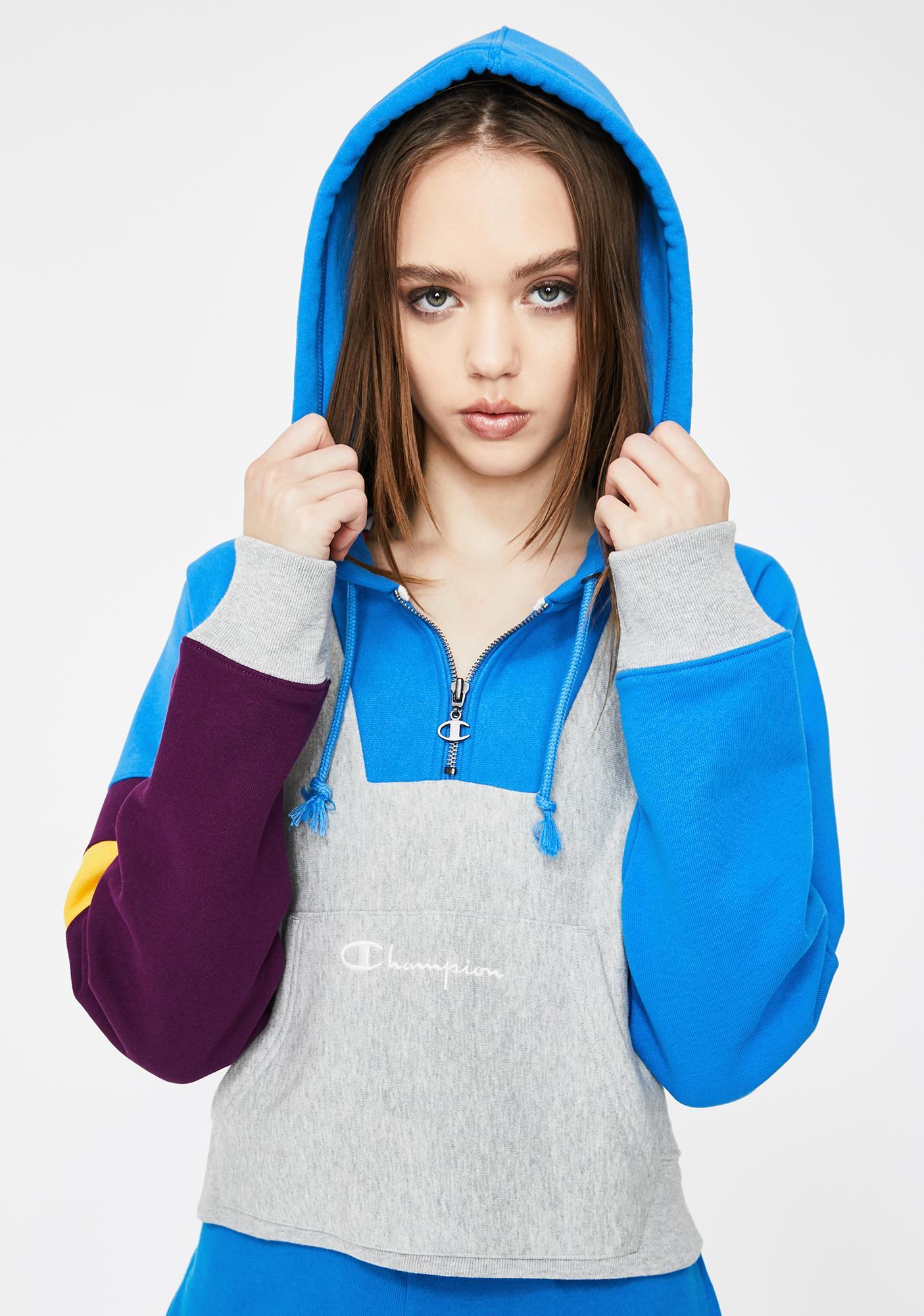 Champion Colorblock Reverse Weave Half Zip Pullover