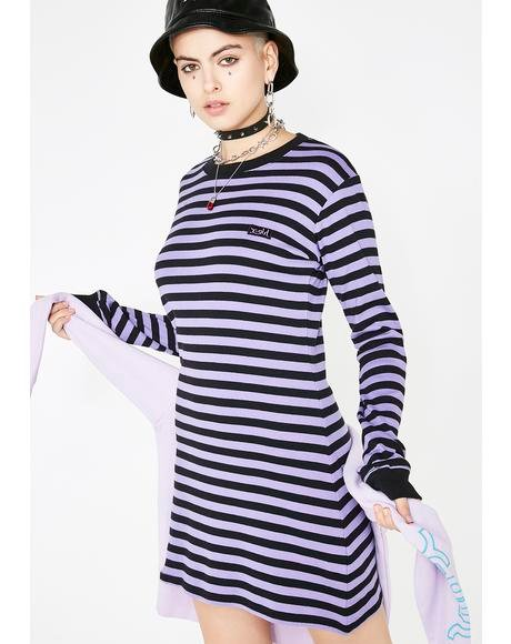 Basic Striped T-Shirt Dress