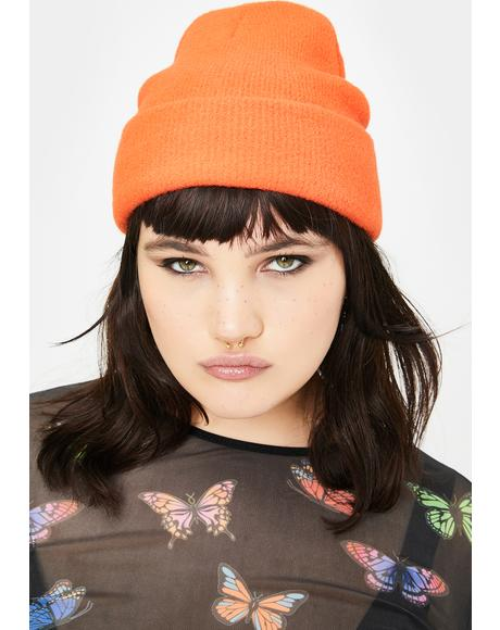 Orange Dallas Beanie