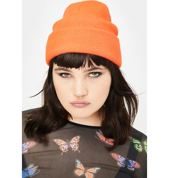Olive & Pique Orange Dallas Beanie