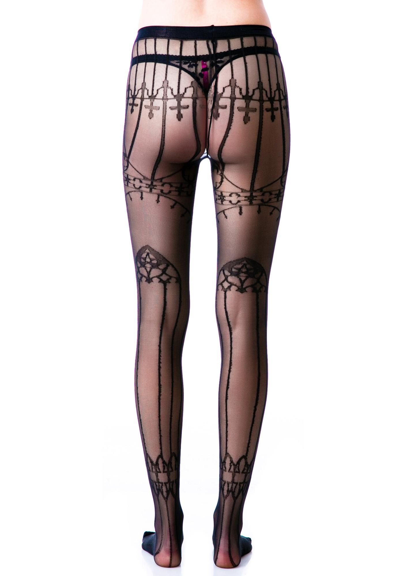 Lip Service Cathedral Pentagram Tights