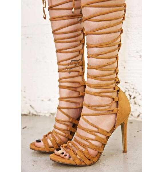 Sandy Supermodel Strappy Heels