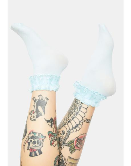 Berry Blushin' Ruffle Socks