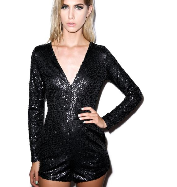 Motel Paulette Long Sleeve Playsuit