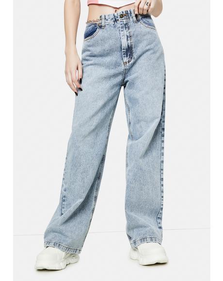 Chain Reaction Baggy Denim Jeans