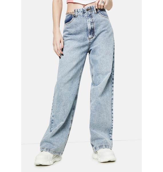 Lioness Chain Reaction Baggy Denim Jeans