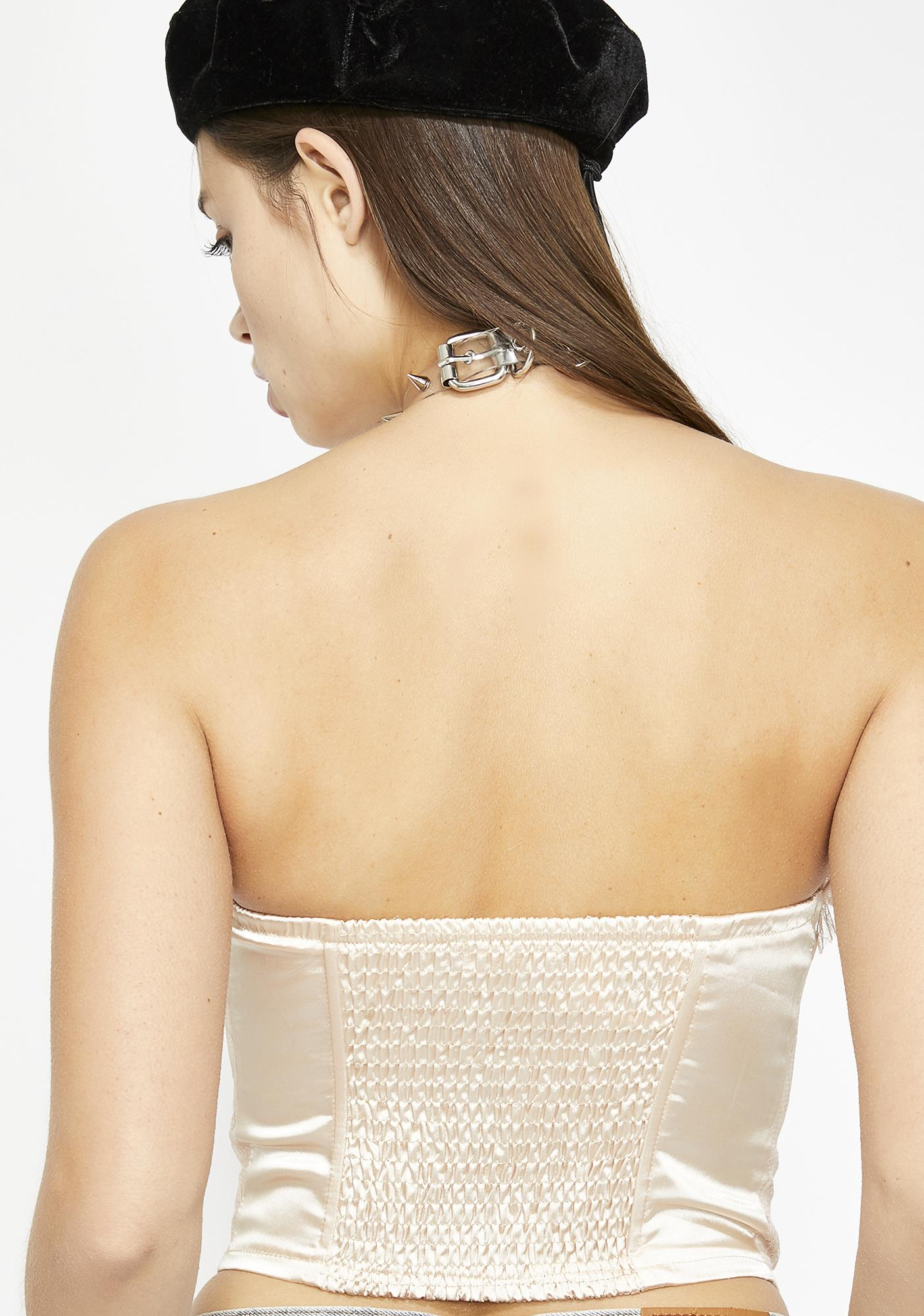 Miss Givin' You Some Lace Bustier