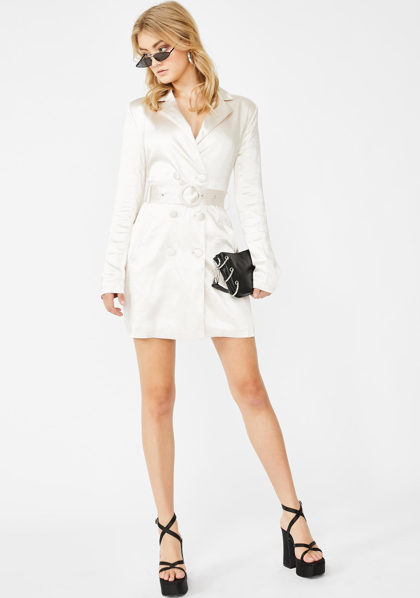 Glamorous CEO Status Trench Dress