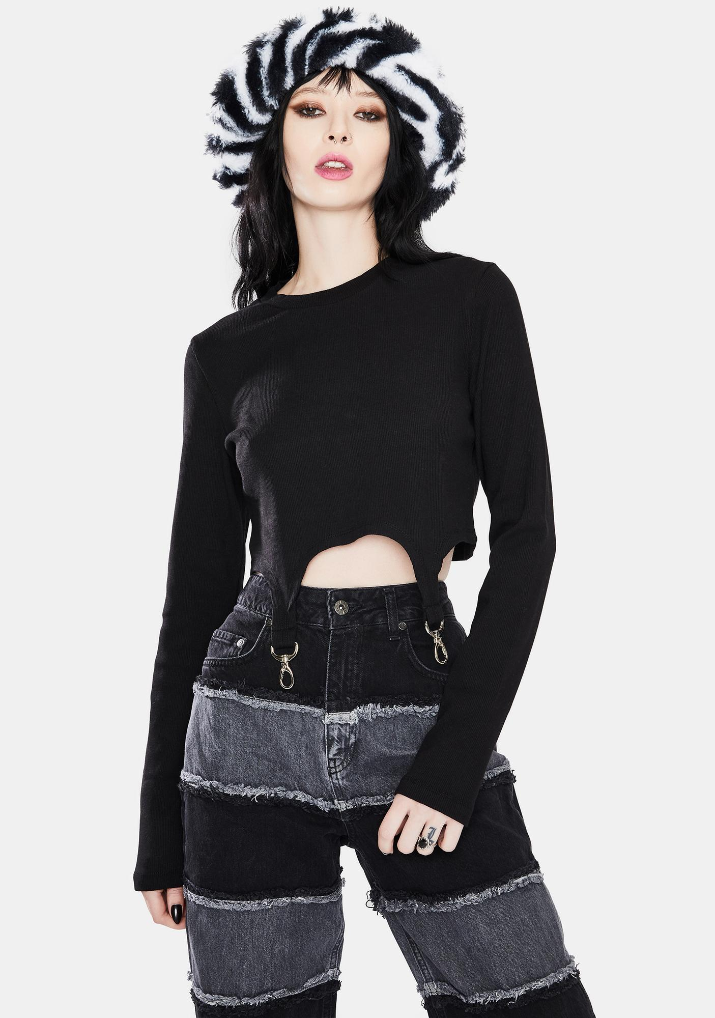 The Ragged Priest Veil Ringer Crop Top