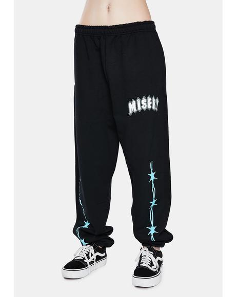 Black N Blue Triple Rip Sweatpants