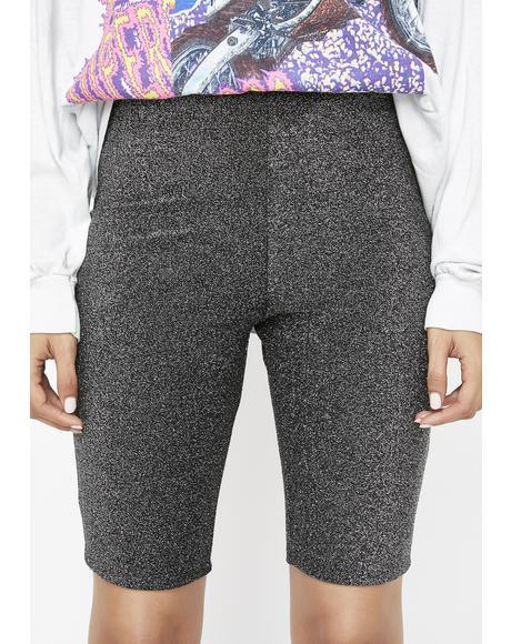 Lucite Shimmerific Biker Shorts