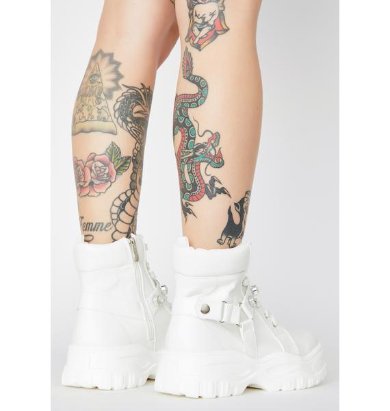 Ice Dying In Designer Rhinestone Boots