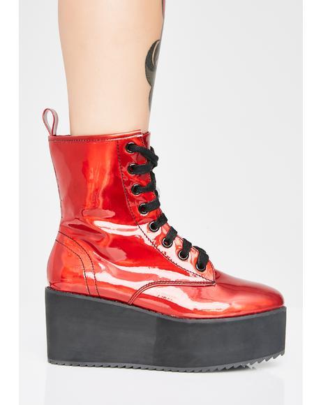 Devil Stomp Hi Hologram Boots