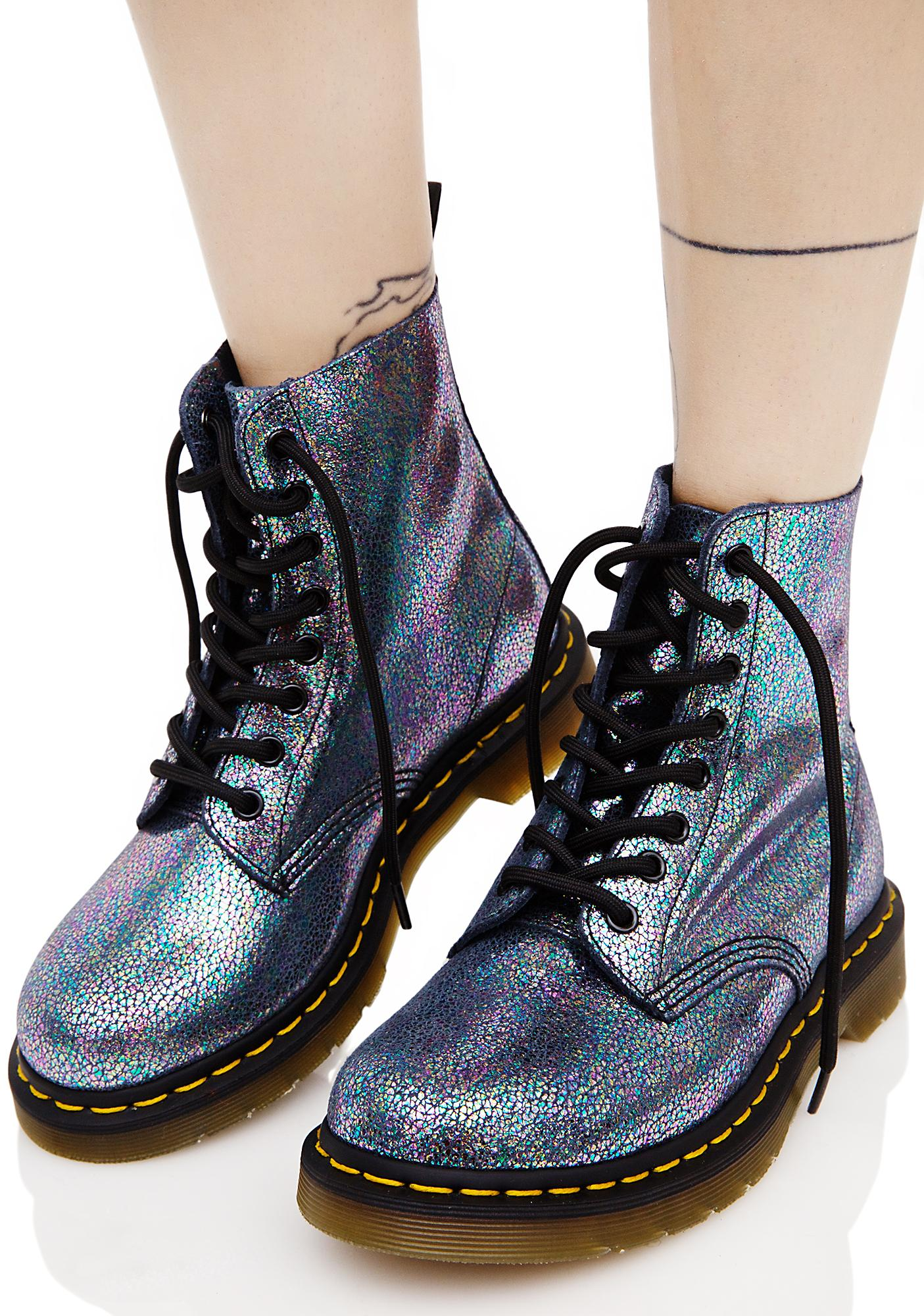 43612be19b54 Dr. Martens Sparkle Pascal 8 Eye Boots | Dolls Kill