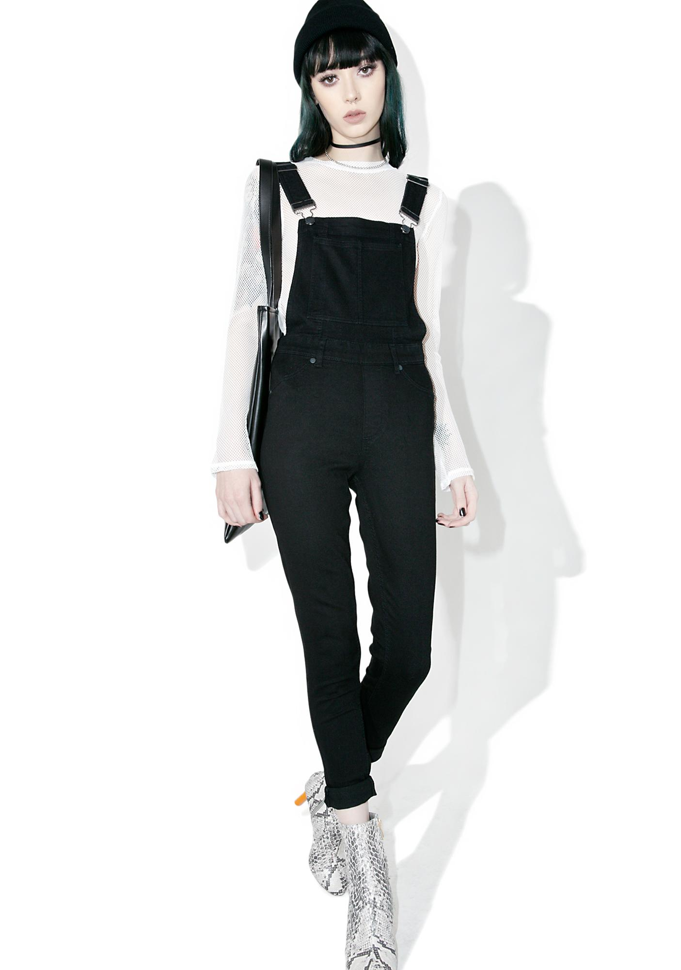 Cheap Monday Spray Black Dungaree