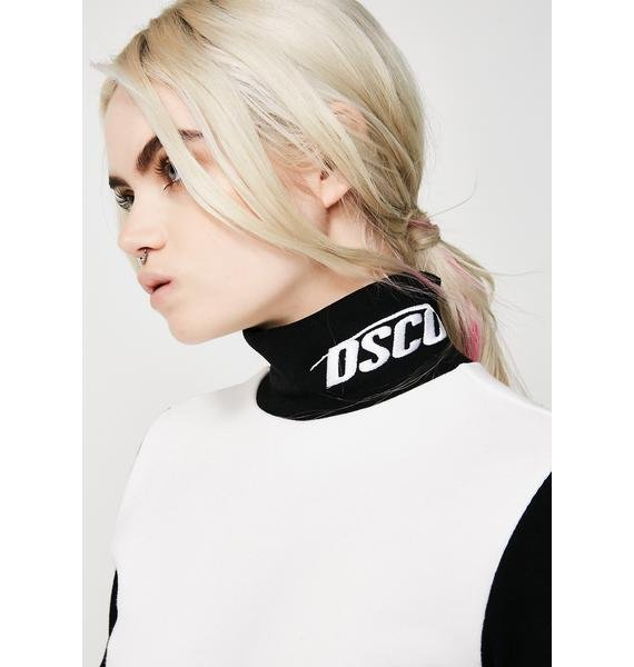 Drink Scan Code Block Turtleneck Long Sleeve Tee