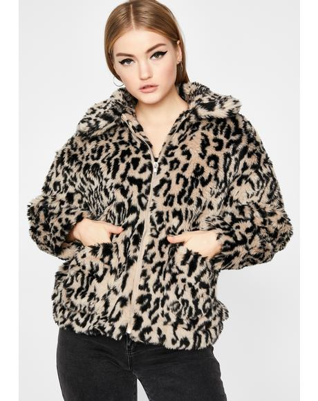 Posh Cat Faux Fur Jacket