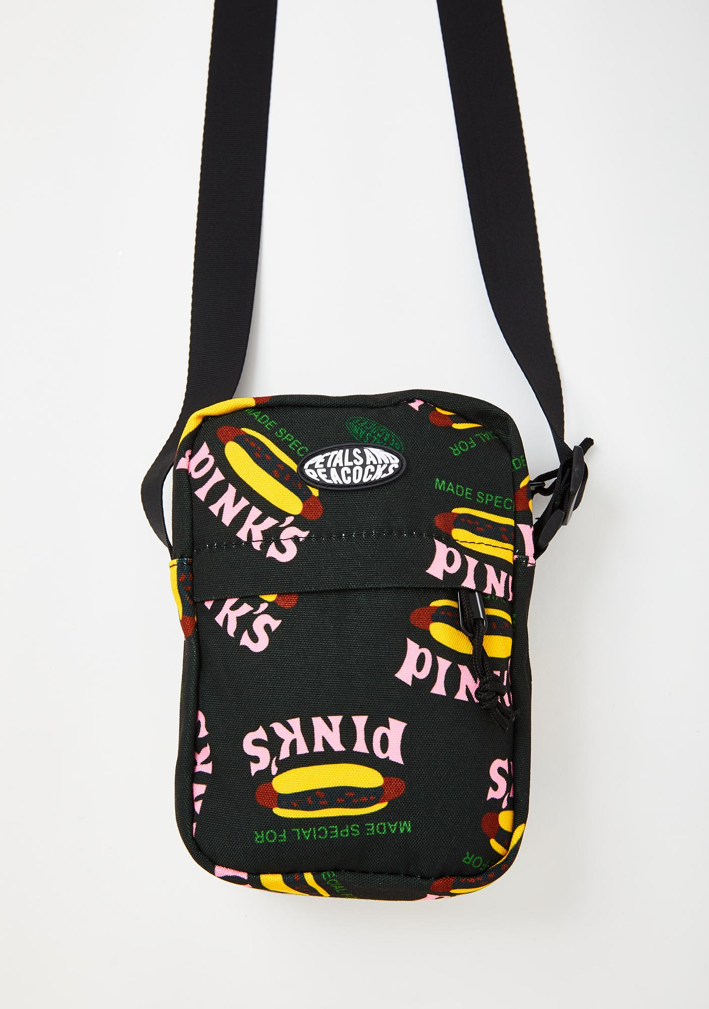 Petals and Peacocks X Pink's Hot Dogs Made Special Shoulder Bag