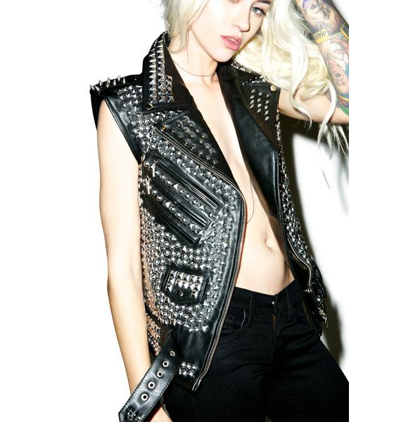 Killstar Overload Leather Vest