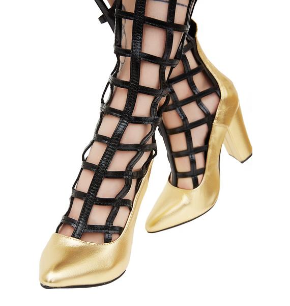 Locked In Caged Heels