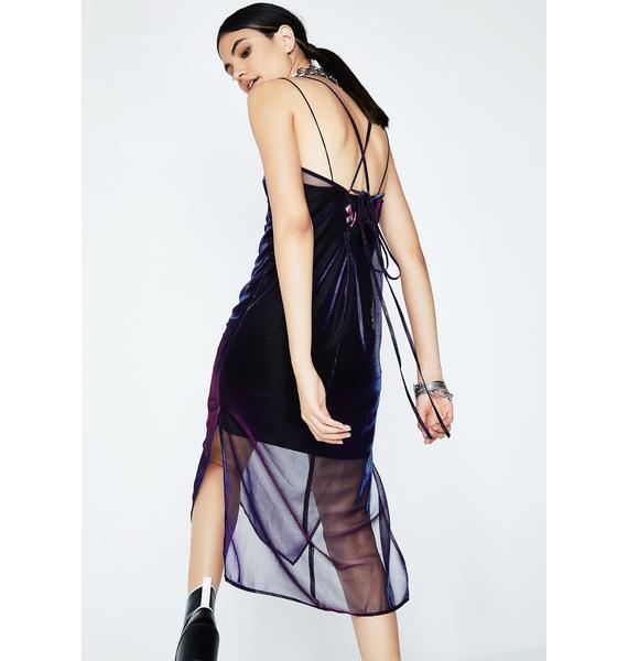 Moon Shimmery Slip Dress