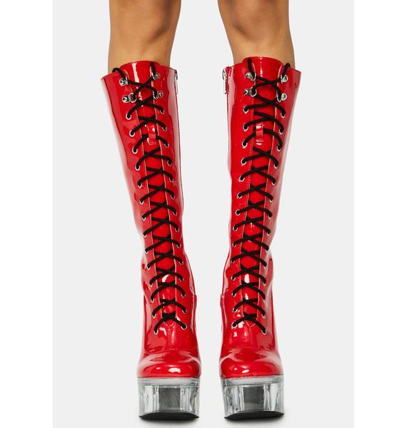 Current Mood Dangerous Desires Knee High Boots