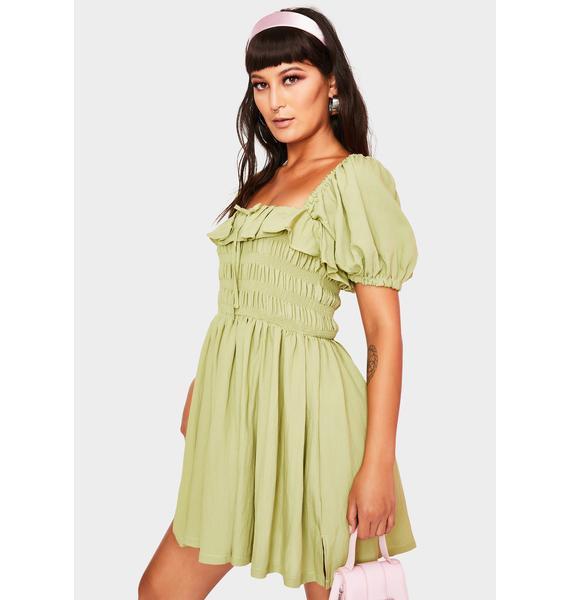 Sage Feeling Good Babydoll Dress